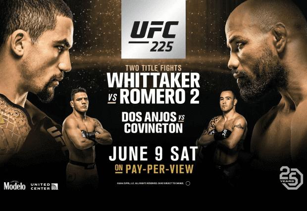 Uitslagen : UFC 225 : Whittaker vs. Romero 2