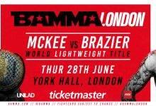 Uitslagen : BAMMA Fight Night London : McKee vs. Brazier
