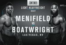 Uitslagen : DWTNCS Seizoen 2 – Week 1 : Menifield vs. Boatwright