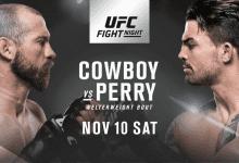 Welterweightclash tussen Donald Cerrone en Mike Perry tijdens UFC Denver
