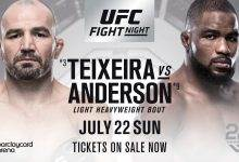 Corey Anderson pakt short notice partij tegen Glover Teixeira tijdens UFC Hamburg