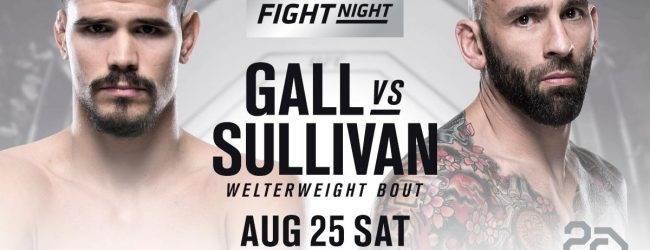 Mickey Gall treft George Sullivan tijdens UFC Fight Night Lincoln