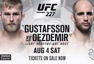 Alexander Gustafsson vecht niet tijdens UFC 227 in Los Angeles