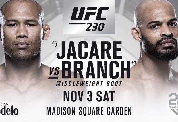 """""""Jacaré"""" Souza vs. David Branch eerste gevecht voor UFC 230 in New York"""