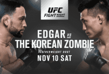 Frankie Edgar vs. Chan Sung Jung is het Main Event voor UFC Denver