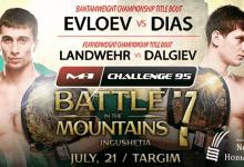 Uitslagen : M-1 Challenge 95 : Battle in the Mountains 7