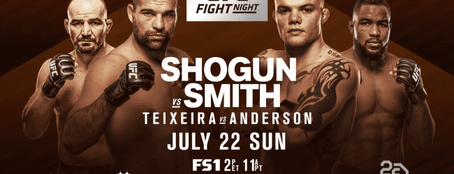Uitslagen : UFN 134 Hamburg : Shogun vs. Smith