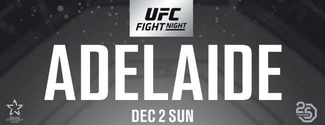 Afscheidspartij Mark Hunt tegen Justin Willis tijdens UFC Adelaide