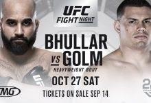 Arjan Singh Bhullar vs. Marcelo Golm eerste gevecht voor UFC Moncton