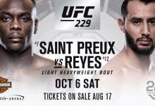 Ovince St.Preux vs. Dominick Reyes gepland voor UFC 229 in Las Vegas