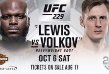 Top 5 Heavyweights Derrick Lewis en Alexander Volkov vechten tijdens UFC 229