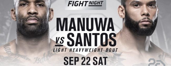 Thiago Santos vervangt Glover Teixeira tegen Jimi Manuwa tijdens UFC São Paulo