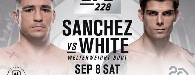Diego Sanchez maakt terugkeer tegen Craig White tijdens UFC 228 in Dallas