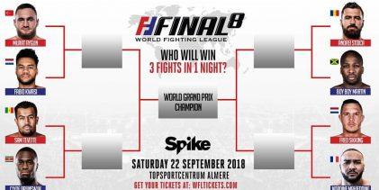 Match-Ups WFL Final 8 toernooi bekend
