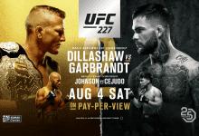 Uitslagen : UFC 227 : Dillashaw vs. Garbrandt 2