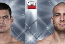 Cezar Ferreira treft Tom Breese tijdens UFC Buenos Aires