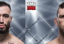 Shane Burgos maakt opwachting tegen Kurt Holobaugh tijdens UFC 230 in New York