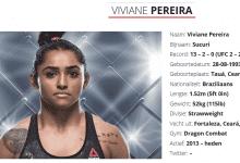 De wegen van de UFC en Viviane Pereira scheiden na vier gevechten in de Octagon