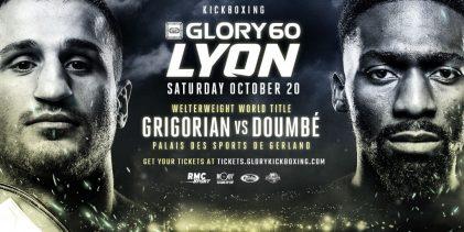 GLORY 60 in Lyon met Grigorian vs Doumbe en Yousri Belgaroui op de kaart