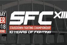 Complete card Staredown FC XIII bekend inclusief twee Pro titelgevechten