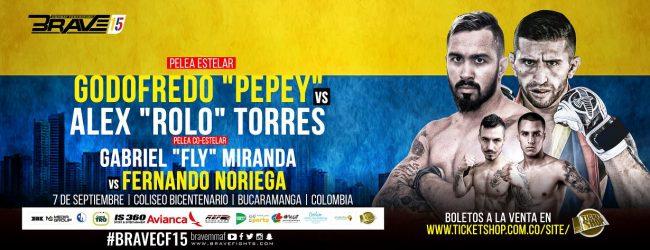 Uitslagen : Brave CF 15 : Pepey vs. Torres