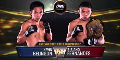 Kevin Belingon gaat opnieuw de strijd aan tegen kampioen Bibiano Fernandes