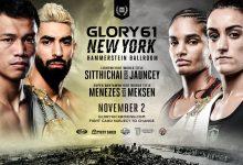 GLORY 61 New York met 2 titelgevechten, Jason Wilnis en Massaro Glunder