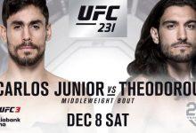 Antonio Carlos Junior vs. Elias Theodorou wederom gecanceld