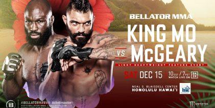 "Poging 2 : ""King Mo"" Lawal vs. Liam McGeary toegevoegd aan Bellator Hawaii"