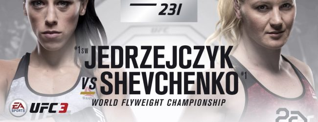 Valentina Shevchenko vs. Joanna Jedrzejczyk voor de vacante Flyweight titel in Toronto