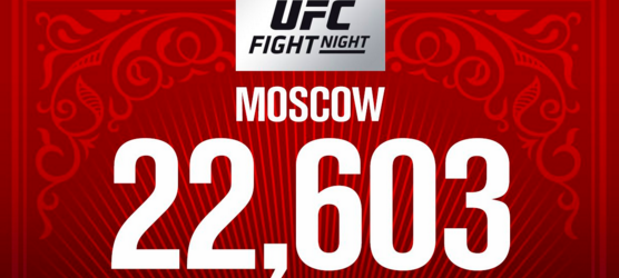 Volle bak tijdens UFC Moskou: Bezoekersaantal boven 22,000