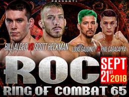 Uitslagen : Ring of Combat 65 : Algeo vs. Heckman