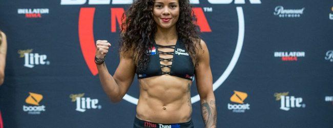 Denise Kielholtz verliest van Veta Arteaga door middel van een Standing Guillotine Choke