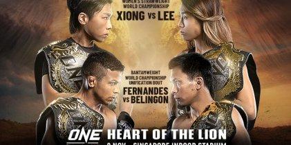 Line-up ONE Championship: Heart of the Lion krijgt vorm