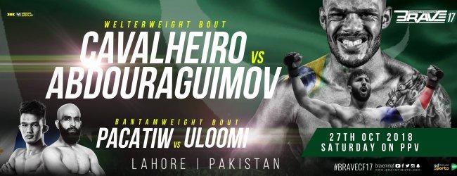 Uitslagen : Brave CF 17 : Cavalheiro vs. Abdouraguimov