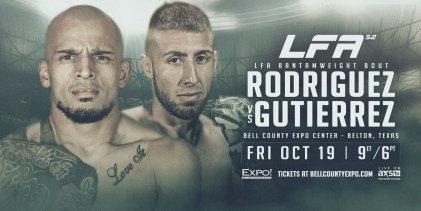 Uitslagen : LFA 52 : Rodriguez vs. Gutierrez