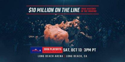 Uitslagen : PFL 2018 Playoffs : Event 2 (Lightweight & Light-Heavyweight)