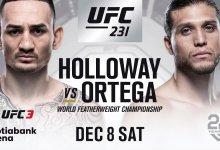 Max Holloway verdedigt titel tegen Brian Ortega tijdens UFC 231 in Toronto