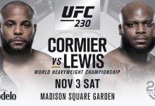Daniel Cormier verdedigt Heavyweight titel tegen Derrick Lewis tijdens UFC 230
