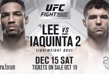 Kevin Lee & Al Iaquinta in Main Event rematch vier jaar later in Milwaukee