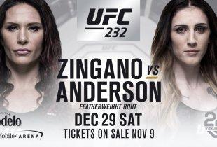 Cat Zingano vs. Megan Anderson toegevoegd aan UFC 232 in Las Vegas