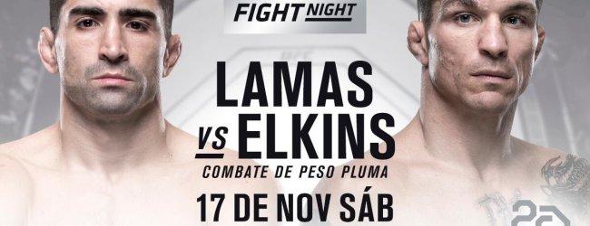 Ricardo Lamas en Darren Elkins vechten het Co-Main Event tijdens UFC Buenos Aires