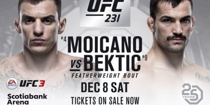 UFC 231 verliest Renato Moicano vs. Mirsad Bektic match-up