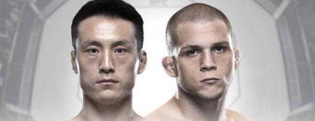 Thuisfavoriet Kenan Song treft Alex Morono tijdens UFC Beijing