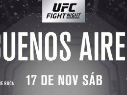 Austin Arnett vs. Humberto Bandenay tijdens UFC Buenos Aires