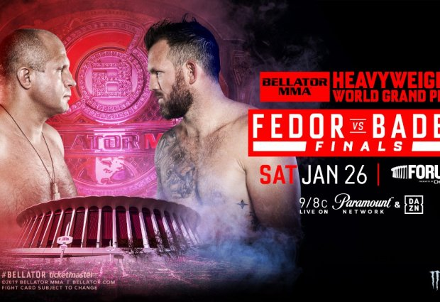 Fedor Emelianenko vs. Ryan Bader voor de Heavyweight titel in Januari 2019