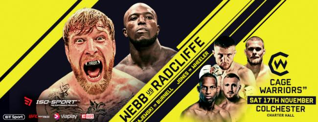 Uitslagen : Cage Warriors 99 : Webb vs. Radcliffe