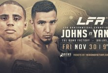 Uitslagen : LFA 55 : Johns vs. Yanez