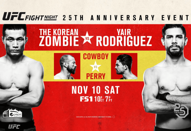 Uitslagen : UFN 139 Denver : The Korean Zombie vs. Rodriguez