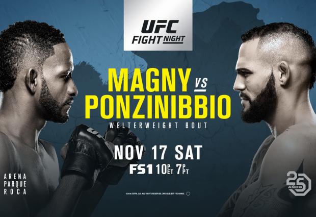 Uitslagen : UFN 140 Buenos Aires : Magny vs. Ponzinibbio